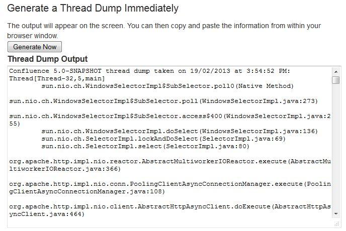 Generating a Thread Dump - Atlassian Documentation