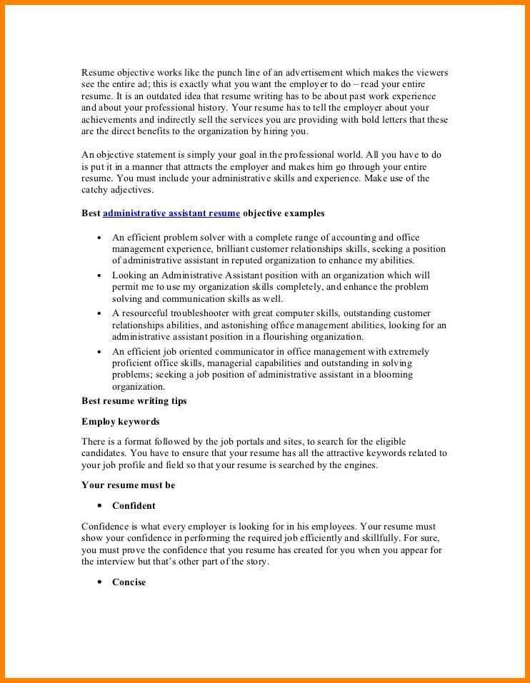 Sample Resume Objectives Sales | Professional resumes sample online