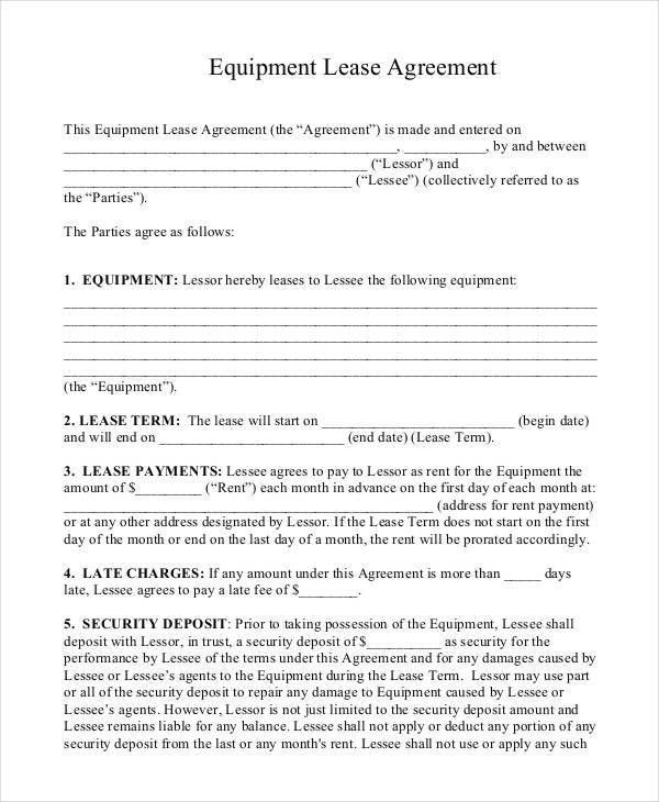 9+ Lease Contract Templates   Free Sample, Example Format Download .
