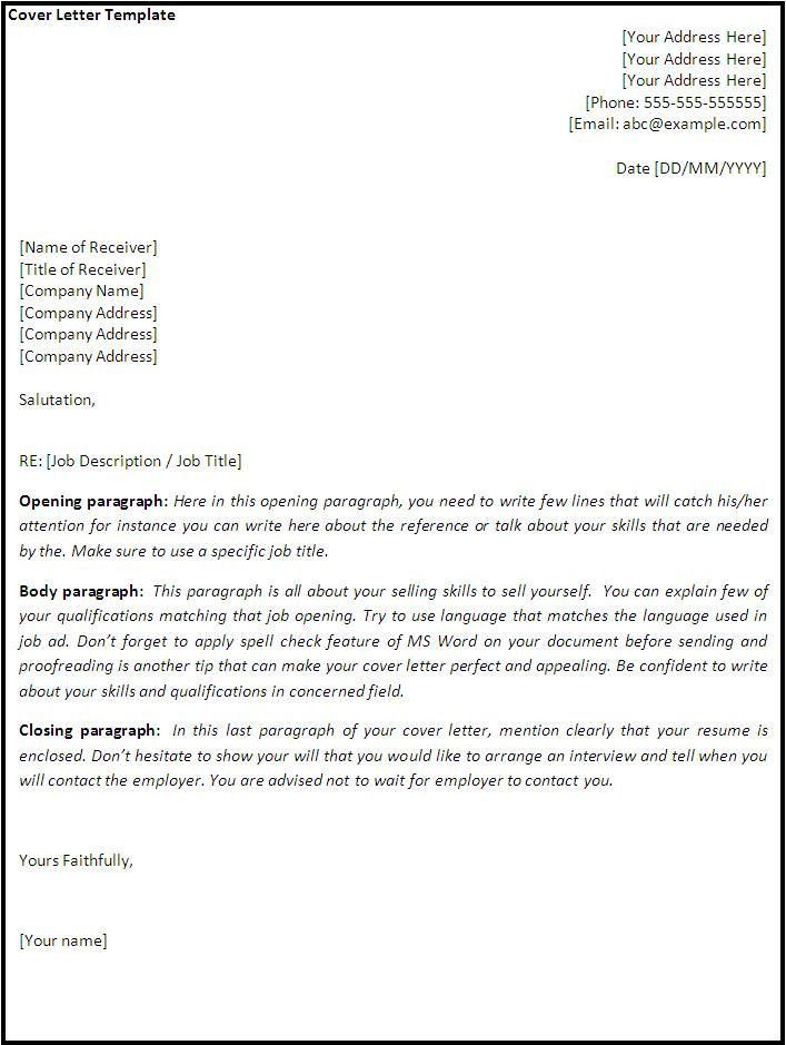 Cover Letters Examples and Tips for Best Cover Letter Example - My ...