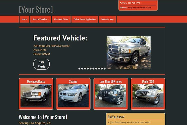 Motorcar Marketing — Results Driven Auto Dealer Marketing Tools