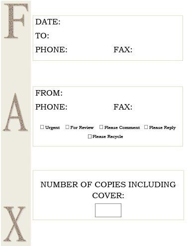 29 Free Printable Fax Cover Sheet Templates