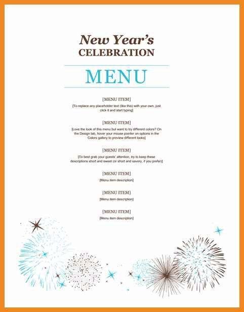 dinner party menu template | art resume examples