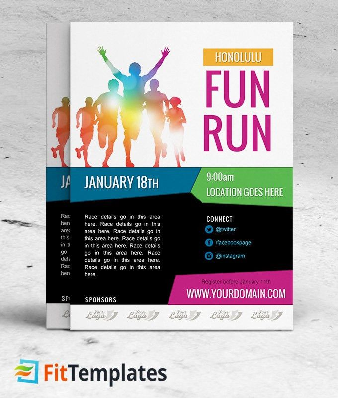Free Race Flyer Template - 5k, 10k, Marathon