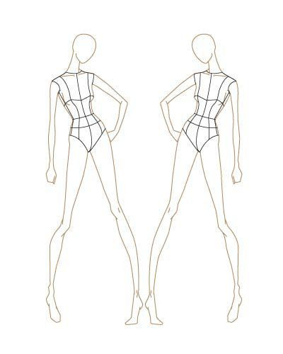 Fashion Sketch Templates | thinkitpink