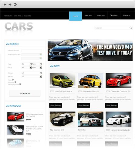 JomBoom.COM | Free joomla templates -Cars template
