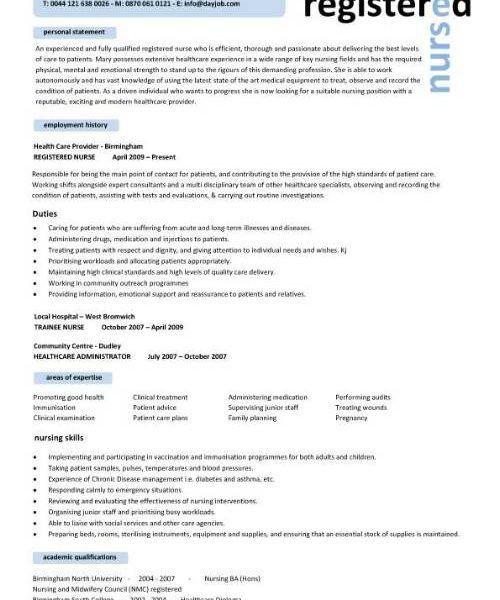 Impressive Idea Nursing Resume Templates 2 Nursing CV Template ...