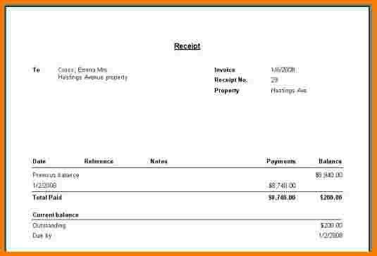 6 receipt sample | Receipt Templates