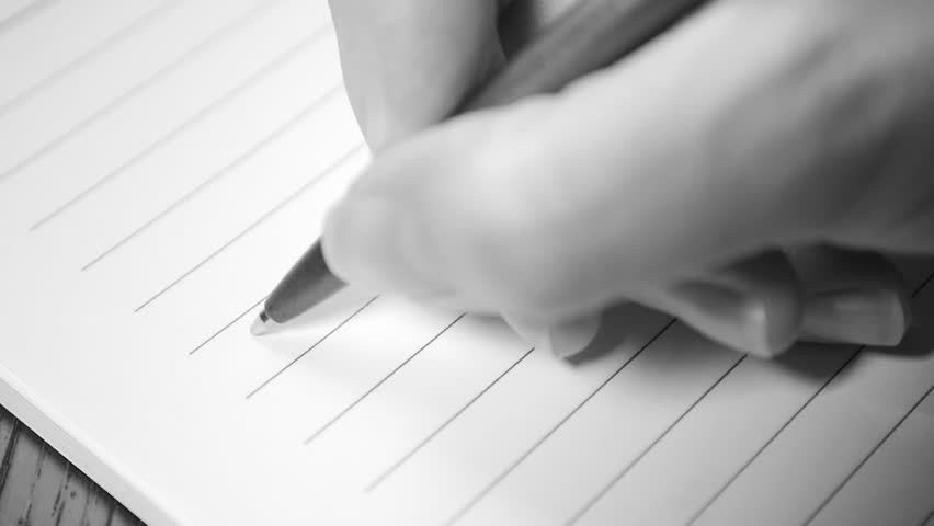 Romantic Letter Writing Slow Motion Black And White 1080p HD ...