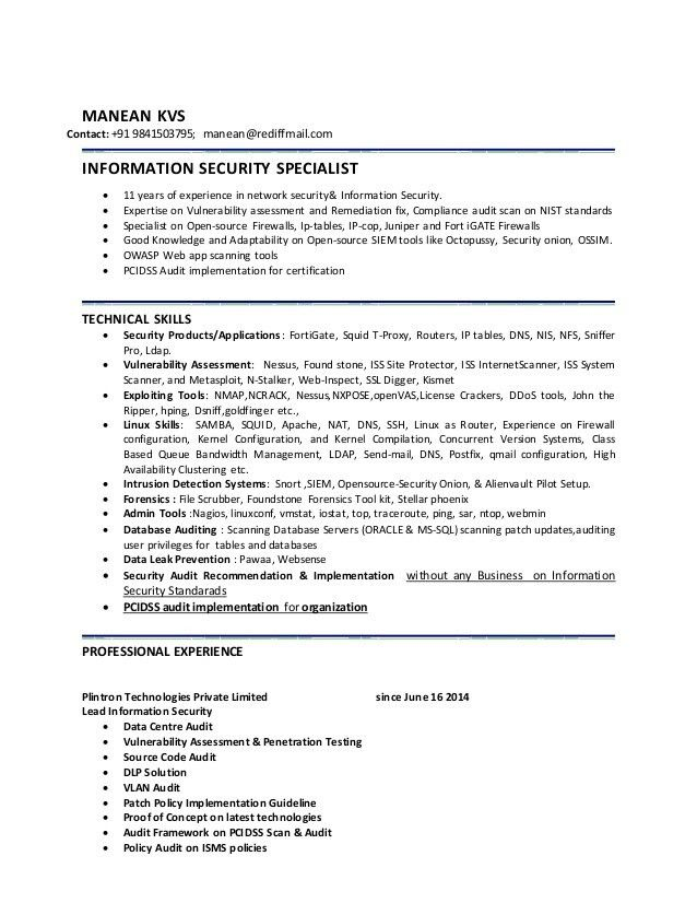 information security resume information security officer internet