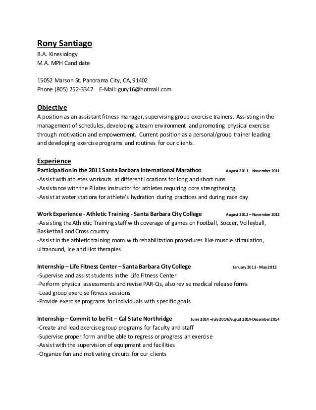 Pilates Trainer Resume - Contegri.com