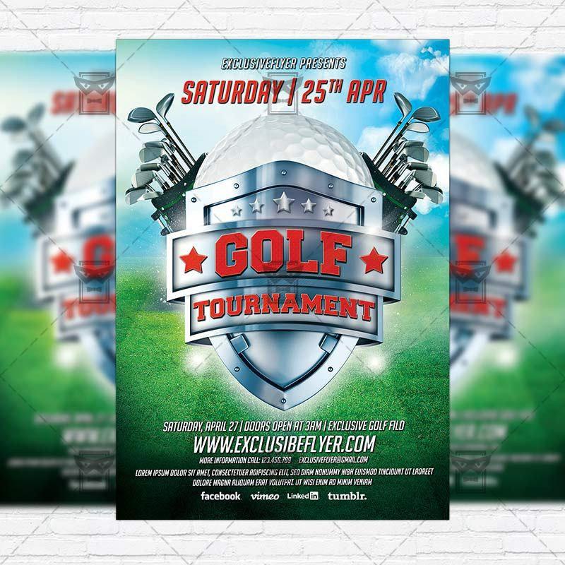 Golf Tournament – Premium Flyer Template + Instagram Size Flyer ...