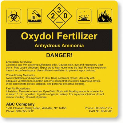 Ghs Label Template] Chemical Labeling Nicelabel, Ghs Labeling