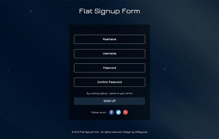 Flat login forms - 2/33 - w3layouts.com