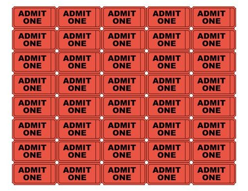 blank admit one ticket template