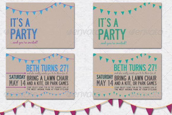30 Beautiful Invitation Templates, Card, Birthday, Wedding, Party