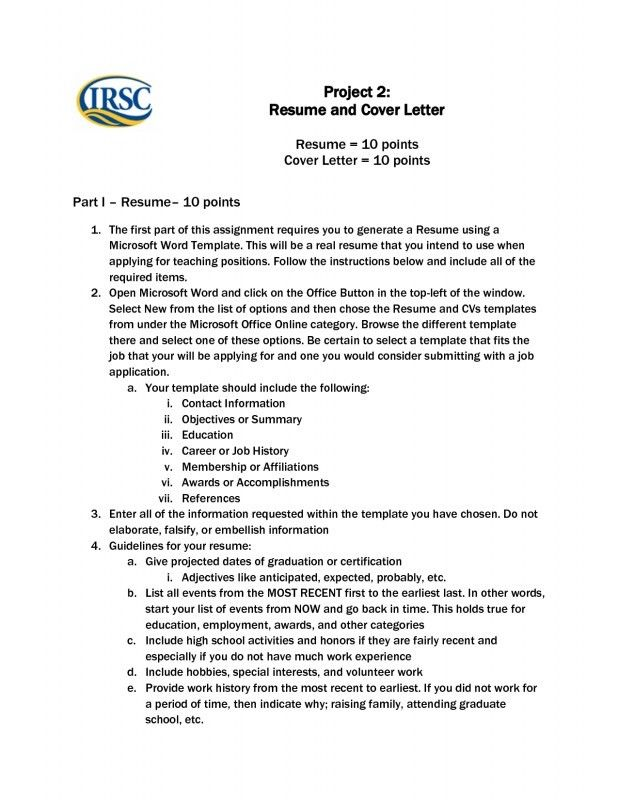 Resume Cover Letter Template Microsoft Word | Samples Of Resumes