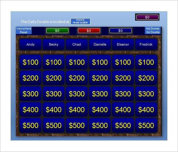 Jeopardy Powerpoint Template With Score - Casseh.info