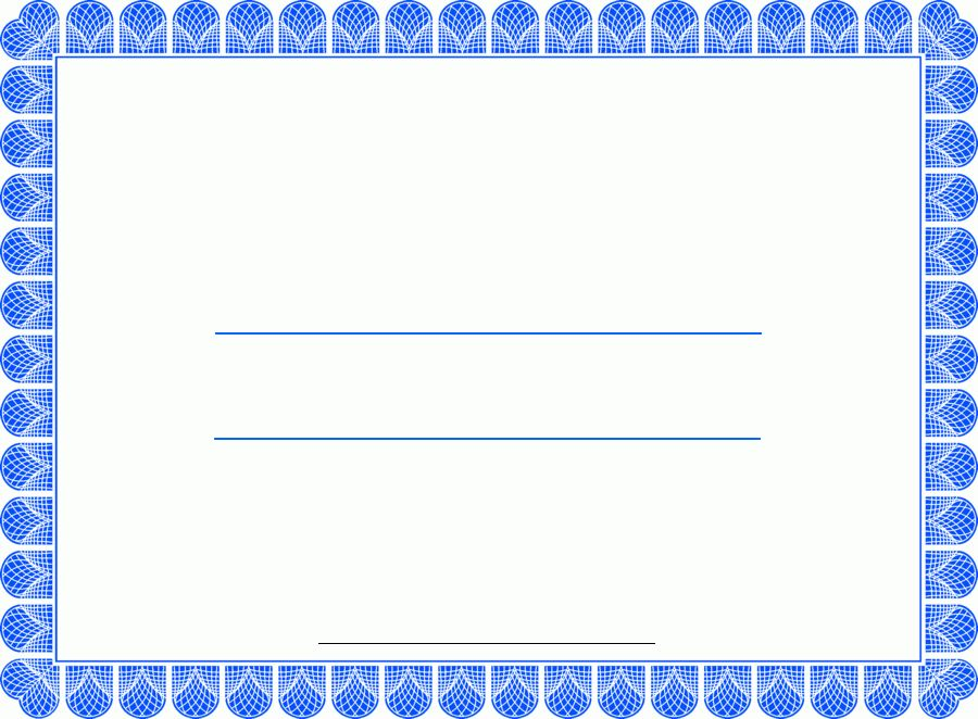 appreciation blank certificate templates
