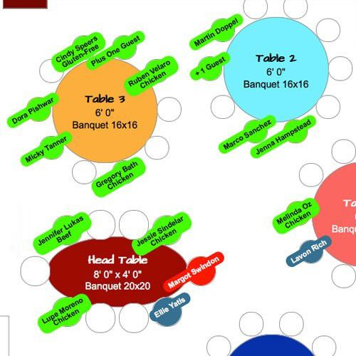 Online Seating Chart Software / Maker / Generator - Events & Weddings