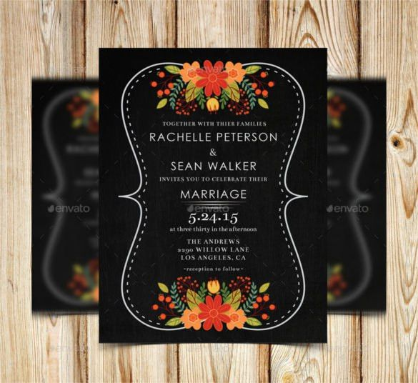 26+ Chalkboard Wedding Invitation Templates – Free Sample, Example ...
