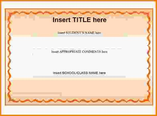 11+ blank certificate templates   Letter Template Word