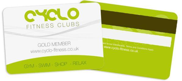 Plastic Membership Cards - Cyclo Fitness | membership card ...
