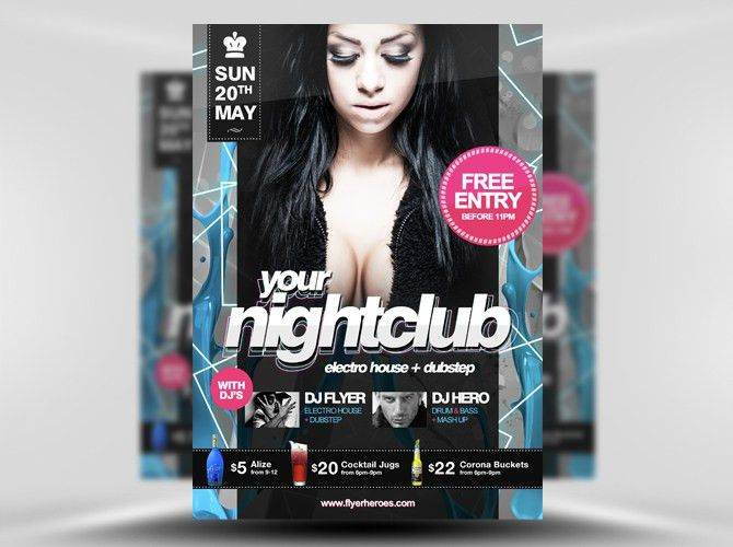 Free PSD Nightclub Party Flyer Template