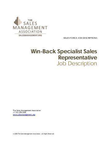 Sales Representative Job Description. Sales Representative Job ...