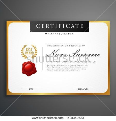 Elegant Certificate Template Excellence Achievement Appreciation ...