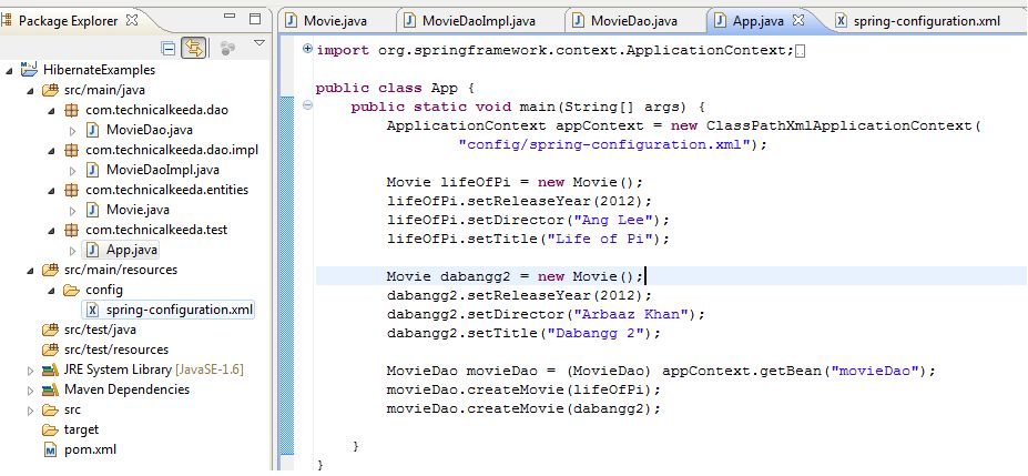 Spring Hibernate Integration Example For Beginners and Experience ...