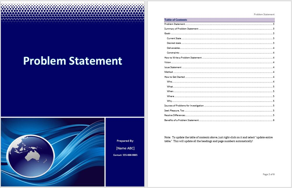 Statement Word Templates – Microsoft Word Templates