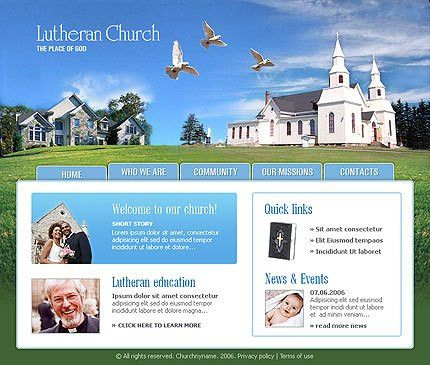 Lutheran Church Website Templates, Lutheran Church HTML Templates ...