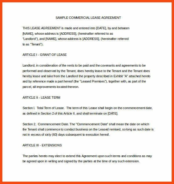 Commercial Agreement Format. 15 Best Rental Docs Images On ...