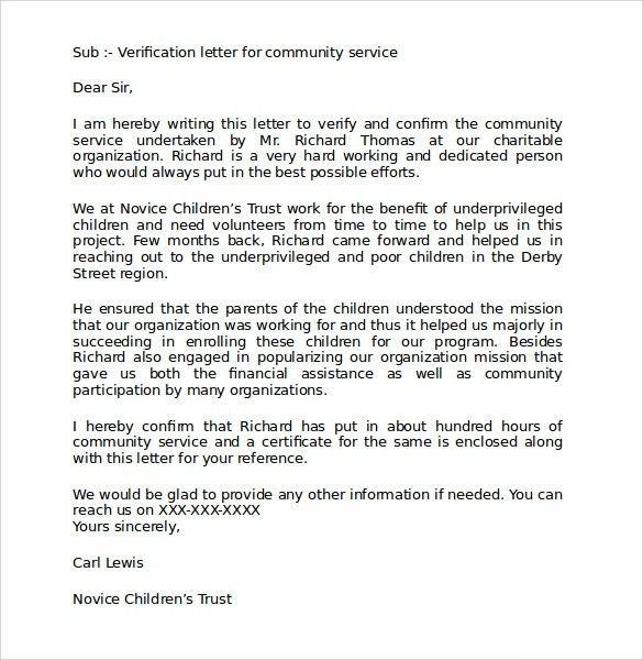 Community Service Completion LetterBest Business Template | Best ...