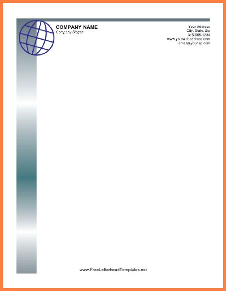 Free Business Letterhead Templates.business Letterhead Globe.png ...