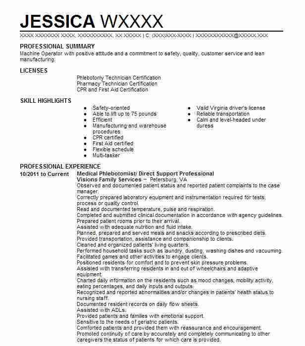 direct support professional resumes