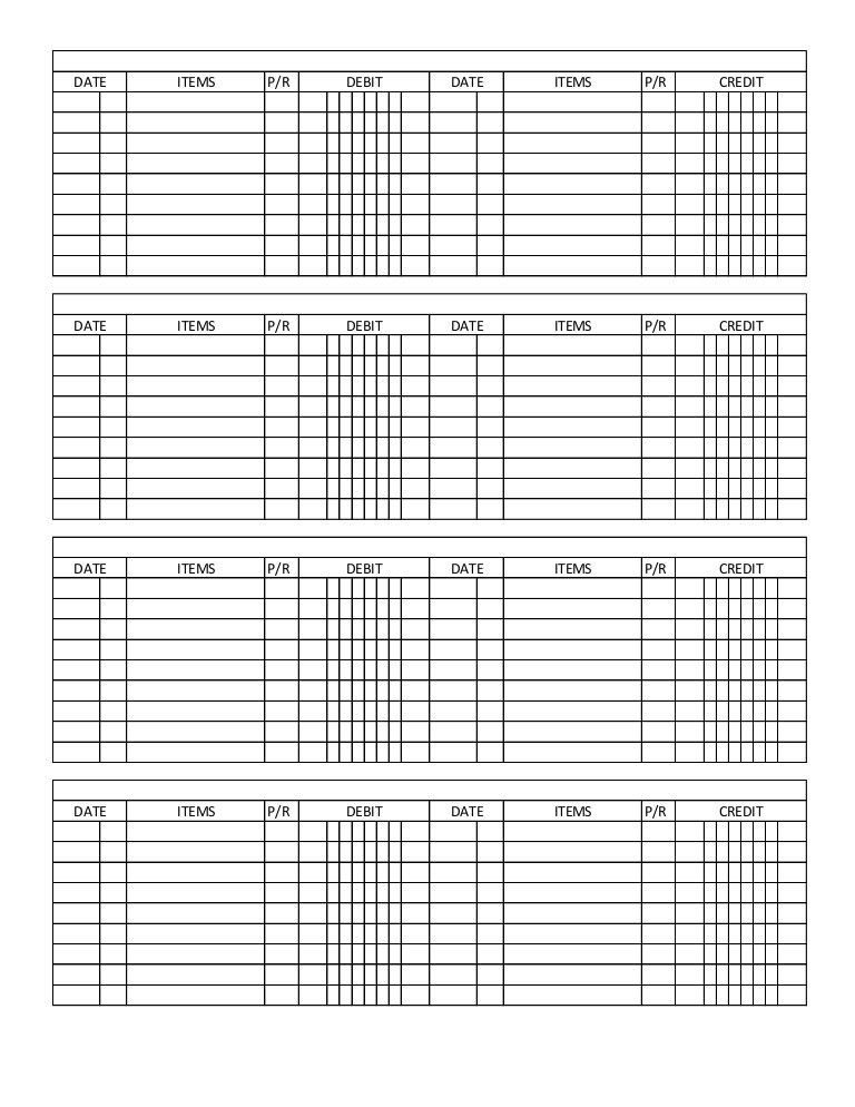 General ledger template