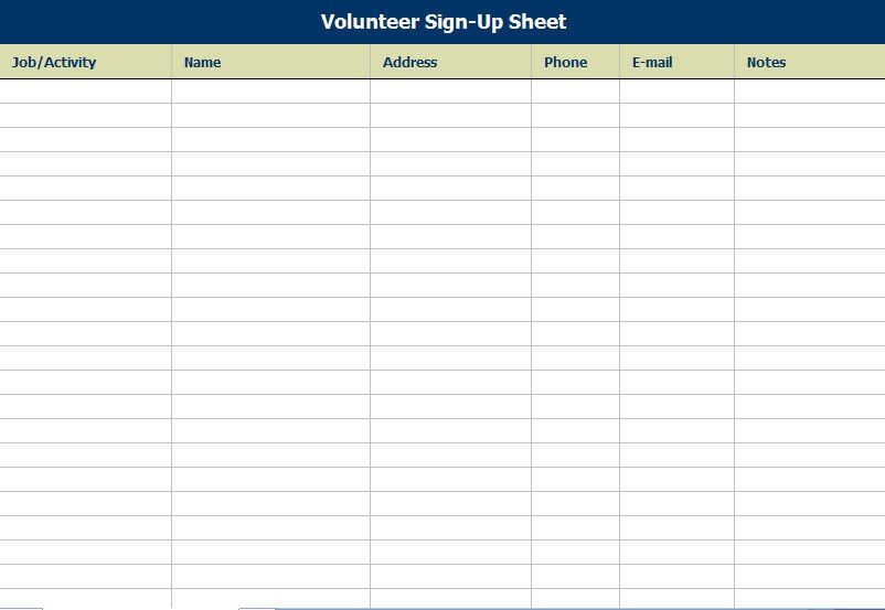 Best Photos of Make A Sign Up Sheet - Free Sign Up Sheet Template ...