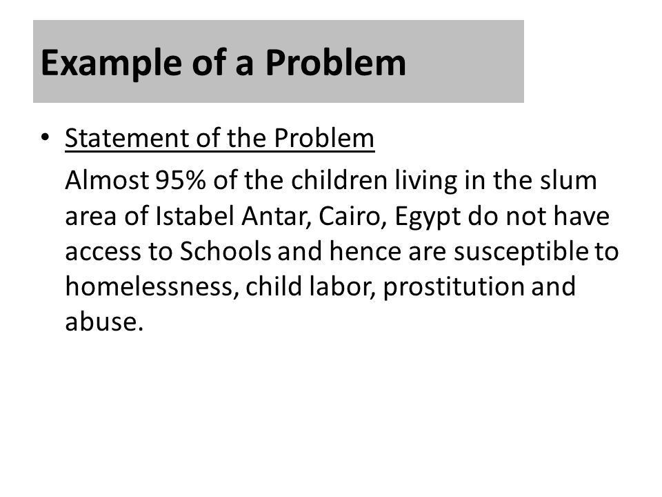Statement of the Problem and Justification - ppt video online download