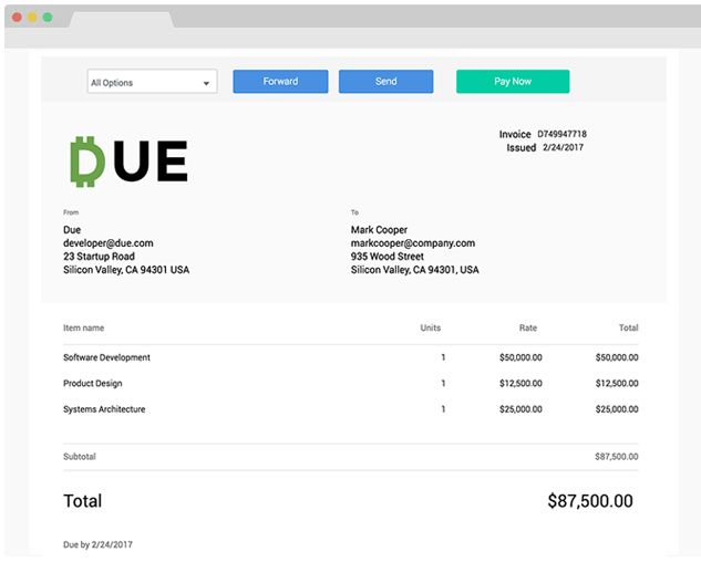 Send an Invoice. Free Online Invoicing for Small Businesses by Due