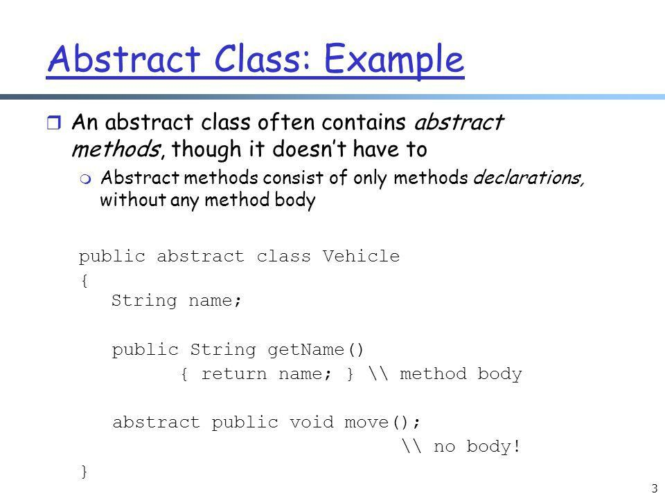 Abstract Classes. - ppt download