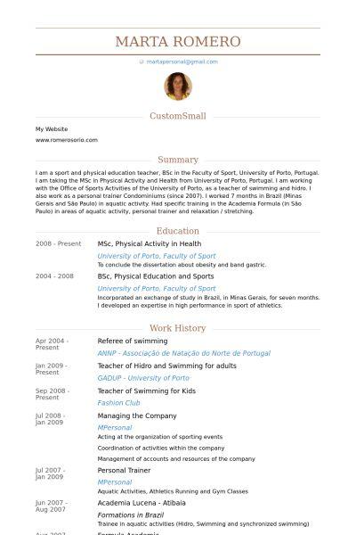 Referee Resume samples - VisualCV resume samples database