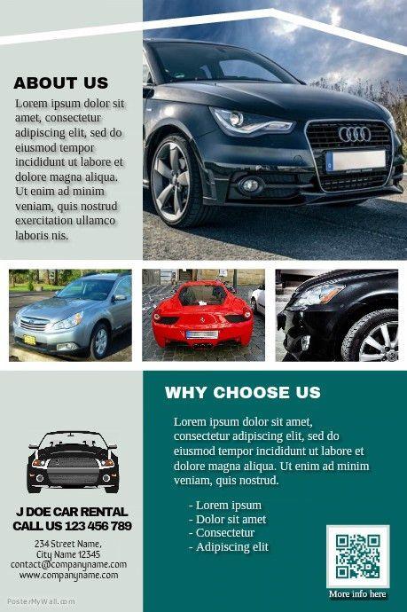 Car rental brochure - Professional template http://www ...