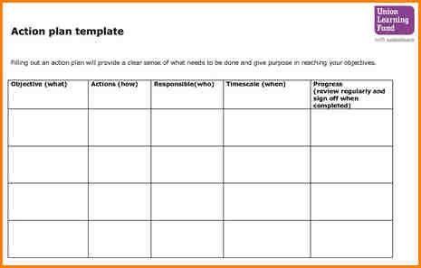 8+ project action plan template   writable calendar