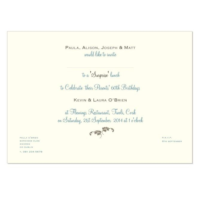 Invitation Card For Lunch | PaperInvite