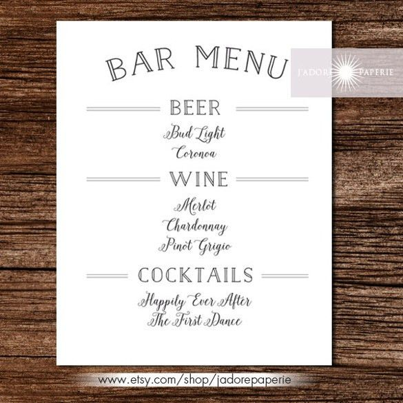 Bar Menu Template – 29+ Free PSD, EPS Documents Download! | Free ...