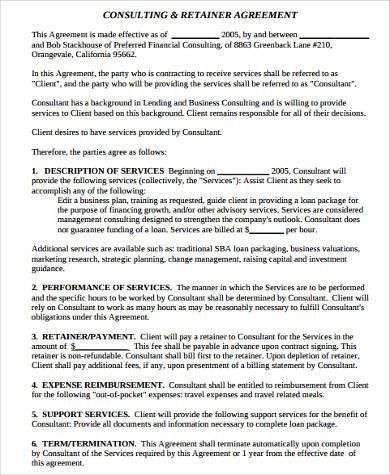 8+ Consulting Sample Agreement Forms - Free Sample, Example ...