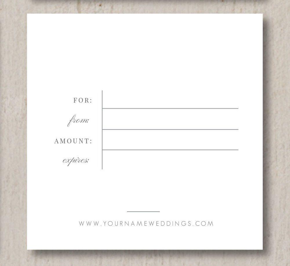 Wedding Professional Gift Card Template - Eucalyptus