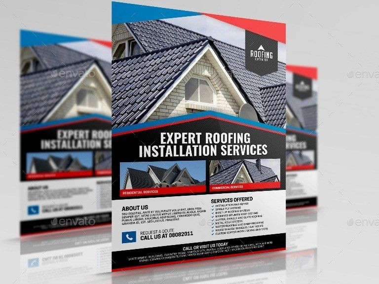Roofing Contractor Service by Artchery | GraphicRiver